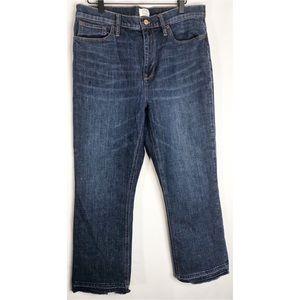 Billie Demi boot cut raw hem distressed jeans 32